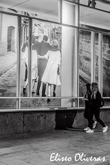 Two streets and two different times (Eliseo Oliveras) Tags: barcelona life street city people urban blackandwhite bw woman white black cute sexy art blanco beautiful beauty museum female spain pretty noir photographer arte time femme negro culture catalonia exhibition bn catalunya museo bella macba hermosa blanc cultura negre catalua barcelone dona exposicin catalogne monocrhome eliseooliveras xaviermiserachs eliseooliveras