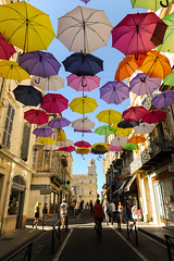 Arles, Colorful Umbrellas (Installation by Patricia Cunha) (Werner Schnell Images (2.stream)) Tags: art installation umbrellas arles regenschirme ws schirme cunha sonnenschirme partricia