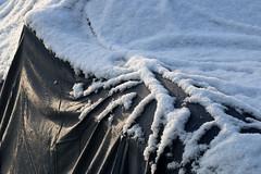 Well Wrapped (gripspix) Tags: auto schnee snow detail car drops first plastic fabric tropfen erster textil kunststoff wintereinbruch abdeckplane onsetofwinter gerwebe 20151129