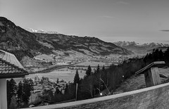 Alpenpanorama, St. Johann, Österreich, b&w