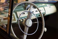 Old steringwheel from one Volvo (trankoket) Tags: museum radio volvo veteran tuta gammal ratt bakelit hastighetsmtare vindruta knappar torkarblad klassisk raritet bilradio vxelspak vrdefull