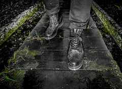 Dr Marten Drench. Wellington boot. (CWhatPhotos) Tags: pictures black cold men green slr wet water yellow canon river season that outdoors photography boot countryside cool stream foto view hole image artistic pics iii picture 8 pic images have photographs photograph fotos wellington mens stitching 5d 100 sole doc welly marten which dm docs contain waterproof bouncing airwair martens dms plod drench wellys cwhatphotos drenchboot