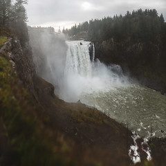 Snoqualmie Falls after heavy rain