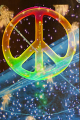 Cosmic peace (Marco Braun) Tags: color sign peace vrede paz pax colourful symbols shalom coloured cosmic farbig mir signe mucho paix zeichen   friede multichrome  kosmisch