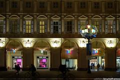 Piazza San Carlo Torino (stefano.brunofranco) Tags: torino san luci carlo piazza natale notte artista bicicletta passeggio camminare