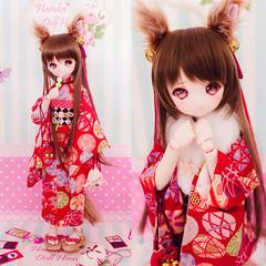 ◆Haruka◆MDD用着物+狐セット出品中 (Evey.Y) Tags: ddh01 yja auction haruka volks dollfiedream kimono yahoo mdd doll
