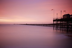 pier (Upscape) Tags: longexposure sea coast beach sunrise dawn morning purple water minimal