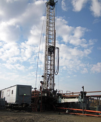 Drilling rig at Hendren Century Farms # 2 petroleum well (north of Johnstown, Ohio, USA) 9 (James St. John) Tags: hendren century farms 2 well petroleum oil natural gas johnstown ohio licking county knox unconformity wellsite drilling rig site