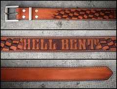 Leather Craft - Hell Bent belt (Marius Mellebye / 276ccm) Tags: leathercraft leather leatherwork leatherbelt cuero handmade handcraft stitches industrialsewingmachine hickssyndicate hellbent belt
