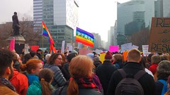 Women's March 2017 (Georgie_grrl) Tags: womensmarch2017 insupportofourusfriends equality lovetrumpshate loveislove positive march peacefulprotest united universityavenue toronto ontario rally peace flags rainbows