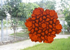 Hallucination Pipes (Clint Yang) (Clint Joe) Tags: gami tessellations papercrafting paperfolding paper folding ori origami art crafting tessellation flowers tilling 3d scubdomino clint grid joe