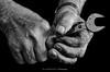 Hands (mr.wohl) Tags: 19er alt analog arbeit aufgabe bw falten handwerk hände industrie job mechanik poren schlosser schlosserei schraubenschlüssel schwarz schwarzweiss weiss werkzeug