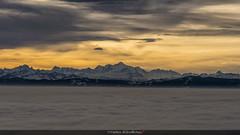 Toucher le ciel (Fred&rique) Tags: lumixfz1000 photoshop cameraraw montagnes suisse ciel nuages petitmatin paysage nature
