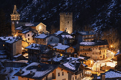The village of Champorcher (Alessandro Vallainc) Tags: xmas snow lowligth longexposure tripod christmas acient village prime lens eos italy valley magic fabulous 2017 wow