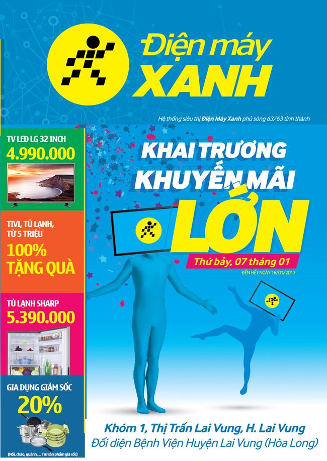 Khai trương siêu thị Điện máy XANH Lai Vung, Đồng Tháp