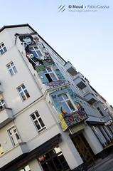 (RevolutionaryMood) Tags: berlin street germany trip red bridge ponte rosso muro di berlino wall vintage stickers people lifestyle