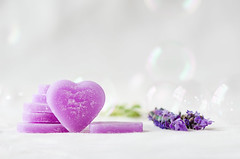 "7/52 ""Soft"" (M.P. Melián) Tags: 52stilllifes sanvalentin soft suave heart corazon love amor lavender lavanda stvalentinesday"