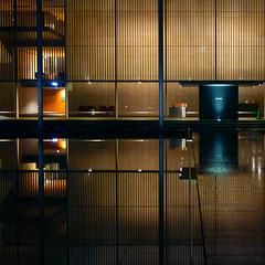 構成=Composition-107/Delicate and poetic geometry (kouichi_zen) Tags: architecture night reflection geometry outdoor line cross light