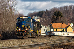 Surprise N&W (Wheelnrail) Tags: ns heritage locomotive ge emd railroad norfolk southern loco trains train rails pittsburgh line altoona juniata shops pennsylvania ac44c6m nw f7 lilly gallitzin