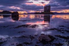 Stalker Sunset (tristantinn) Tags: stalker castle scotland highlands seascape loch landscape sunset dusk blue hour weather sea