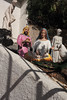 A creche in the off season (ADMurr) Tags: la hollywood hills virgin mary jesus wise man lamb statues shadows wall leica 50mm summicron