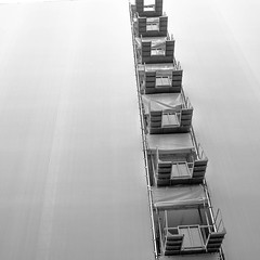 step by step (morbs06) Tags: barcelona catalunya abstract architecture bw city construction fabric facade geometry lines minimal monochrome pattern scaffolding square stripes urban