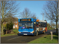 35218, Spinney Hill (Jason 87030) Tags: stagecoach slf dart dennis 35218 12 daventry northants northamptonshire village braunston kx56jyy 2017 january spinneyhill bus transport route