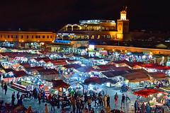 UNESCO list of world heritage (T Ξ Ξ J Ξ) Tags: morocco marrakesh djemaaelfna d750 nikkor teeje nikon2470mmf28 street market store night unesco heritage