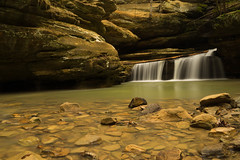 Old Man's Cave. (+Lonnie & Lou+) Tags: nature ohio landscape longexposure travel sony nisi waterfalls waterscape forest creek winter polarizer