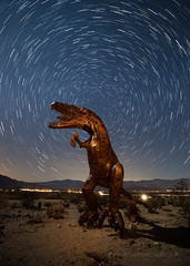 Star Trails Over Borrego Springs Sculpture (Jeffrey Sullivan) Tags: star trails metal sculpture night moonlit anza borrego state park borregosprings california usa landscape nature photography canon 5dmakrii photos copyright march 2012 jeff sullivan