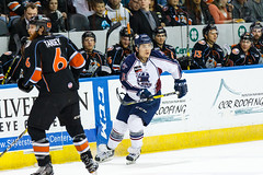 "Missouri Mavericks vs. Tulsa Oilers, March 5, 2017, Silverstein Eye Centers Arena, Independence, Missouri.  Photo: John Howe / Howe Creative Photography • <a style=""font-size:0.8em;"" href=""http://www.flickr.com/photos/134016632@N02/33273248206/"" target=""_blank"">View on Flickr</a>"