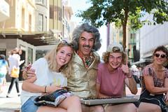 Young Fans (Plymography) Tags: plymography jasonnolan adelaide photographer adl south australia city cbd 5000 barry morgan world of organs keyboard organ out this fringe festival 2017 show entertainer kitsch safari suit big hair rundle street shopping mall malls balls iconic