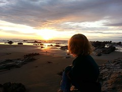 Sunset Hits the Hair. (axlecam) Tags: sunrise sandybeach coffsharbour coffs redhair beautiful