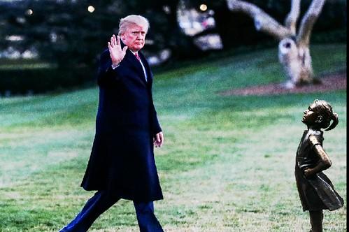 From flickr.com: Trump waving goodbye. {MID-142118}