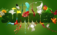 Summer Season Wishing Design Logo HD Wallpaper - StylishHDWallpapers (StylishHDwallpapers) Tags: summer nature logo design seasons wishing