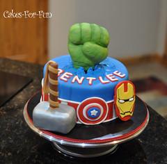 DSC_1252 (bsheridan1959) Tags: cake ironman birthdaycake superhero captainamerica fondant hulkfist