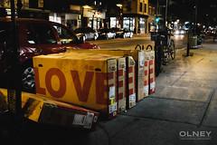 LOVEEEEEE (OlneyPhoto) Tags: street urban love night montral montreal boxes rue nuit urbain olney botes 2015 fujifilmxt1 fujituesdaymtl