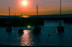 boats in the harbour at Port Seton at sunset (grahamrobb888) Tags: sea seascape scotland nikon eastlothian sunsetcolours d5100 6thseptemberforth