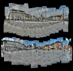 Nottingham's Old Market Square Photomontages (ldjldj) Tags: old nottingham square market photomontage hockney joiner panograph