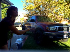 Day 264 (boxbabe86) Tags: california water sunday september toyota tacoma timer iphone multitask day264 saugus 2015 365days 10secondtimer