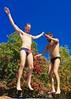 IMG_7014 (danimaniacs) Tags: shirtless man hot sexy guy fun jump trampoline trunks speedo swimsuit stud bulge