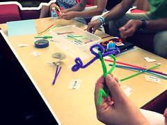 Bristbot making (diane horvath) Tags: makerspace bristlebots medfieldtech