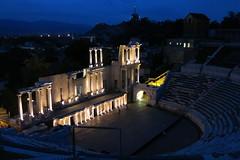 Plovdiv - Ancient theatre (lyura183) Tags: night bulgaria oldtown plovdiv ancienttimes