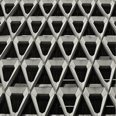 Building Abstract #29 (Joseph Pearson Images) Tags: blackandwhite bw abstract building geometric architecture square mono triangle pattern