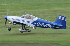 G-RVPW - 2004 build Vans RV-6A, departing from Runway 26R at Barton (egcc) Tags: manchester vans barton waldron rv6 cityairport deeley lycoming rv6a o320 egcb grvpw pfa181a13481