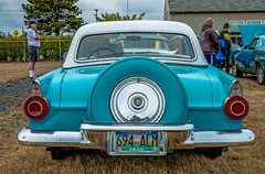 1956--DSC5482--2015 Port Orford Car Sh (Lance & Cromwell back from a Road Trip) Tags: ford jubilee sony 1956 thunderbird portorford a57 2015 fmc sonyalpha sal16105 carshow2015