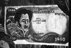 El Vago de la República (RoryO'Bryen) Tags: graffiti medellín copyrightroryobryen colombia roryobryen rangefinder santodomingosavio black white noiretblanc leicamp 35mmsummiluxmasph leicasummiluxm35mmf14asph 35mm iso50 ilfordpanf50