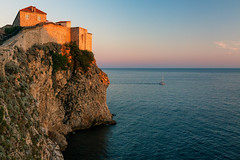 Dubrovnik Walls (Nomadic Vision Photography) Tags: travel summer heritage europe croatia medieval unescoworldheritagesite historical dubrovnik touristattraction jonreid tinareid nomadicvisioncom