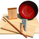 蕎麦道具セットの写真