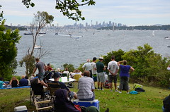 287 crowd assembling before the 2010 Sydney-Hobart race, Laings Pt., Watsons Bay (johnjennings995) Tags: water race yacht sydney nsw sydneyharbour 2010 watsonbay sydneyhobart laingspoint